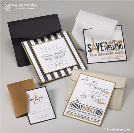 DIY mix-and-match wedding invitation set by Envelopments