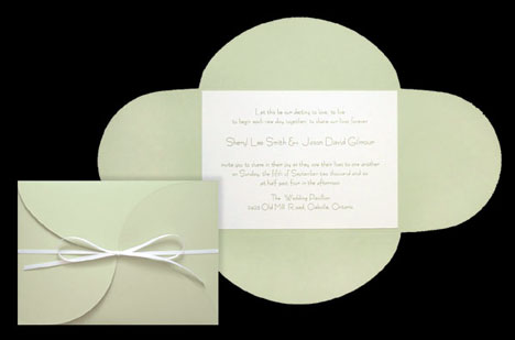 Canvas paper, DIY wedding invitation pocket/folder