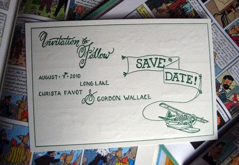 DIY wedding save the date cards on Letterpress