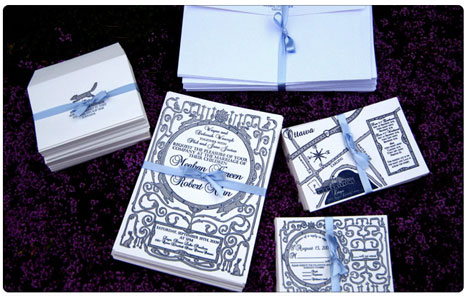 wedding invitation and stationary set