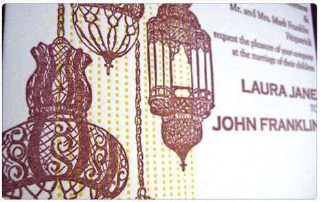 Lanterns - wedding invitation theme