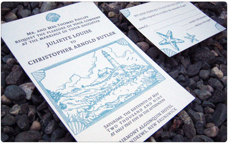 Bride vintage and diy letterpress invitations by papillon press nautical beach theme wedding invitation solutioingenieria Image collections