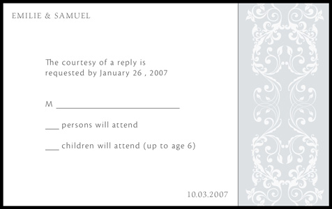 Wedding Invitation Response Card – gangcraft.net