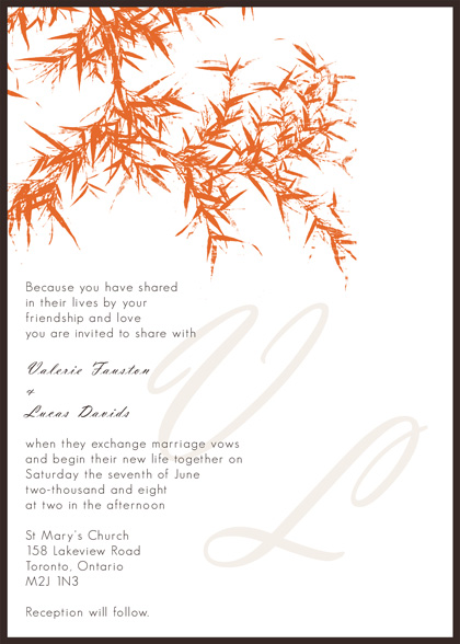 Outstanding Fall Wedding Invitation Templates 420 x 588 · 93 kB · jpeg