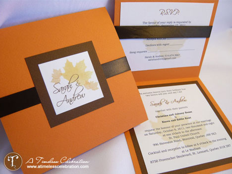 Simple DIY Wedding Invitation