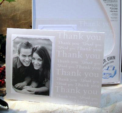DIY wedding thank you card with photo: by Wilton