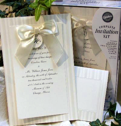 Bride diy wedding invitations whats available in canada print your own diy wedding invitations by wilton bow ivory stopboris Images