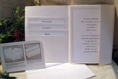 Print-your Own, DIY wedding invitations by Wilton: 'String-of-Pearls'