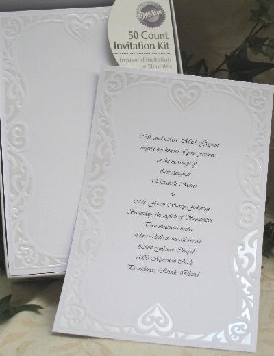 DIY print-your-own wedding invitations by Wilton