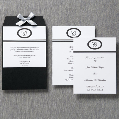 DIY wedding programs; stationary by Wilton