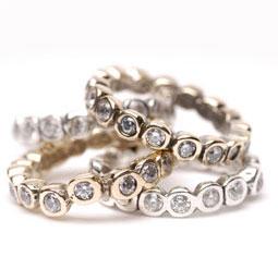 Diamond wedding rings: 'eternity'