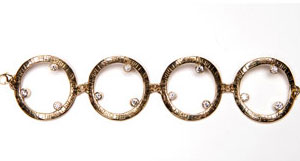Shiva Matra diamond bracelet