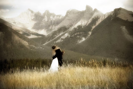 Banff is an ideal location for those who want their wedding 39s backdrop