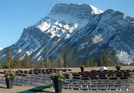 Wedding at Tunnel Mountain, in Banff, Alberta