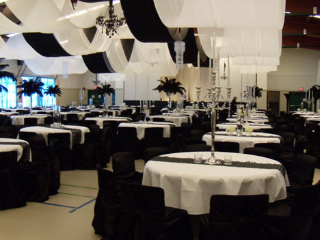 Wedding reception in the Bodine Family Hall