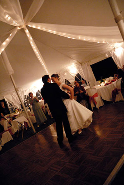 Wedding Reception Dance at the Willowpond Pavillon