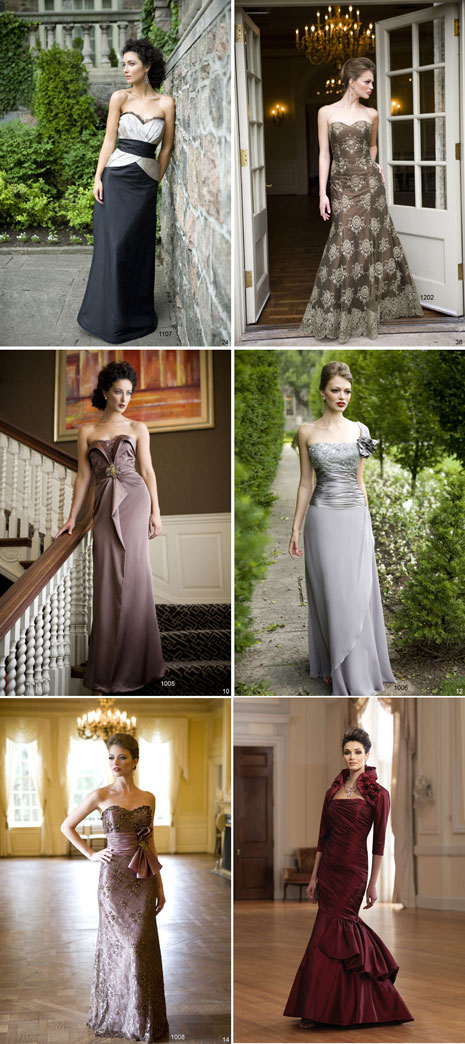 Beautiful mother-of-the-bride gowns, available in Toronto from Edith's Fashions
