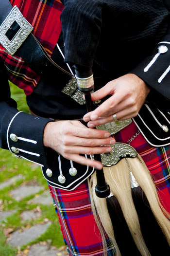 Bagpipes, adding flair to your wedding