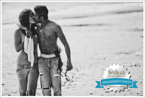 Sexy Summer Engagement Photo: on The Beach, with Mariko & Terron, Victoria (vancouver), BC, Canada