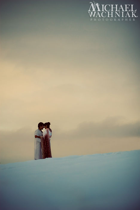 Michael Wachniak wedding photo: snow