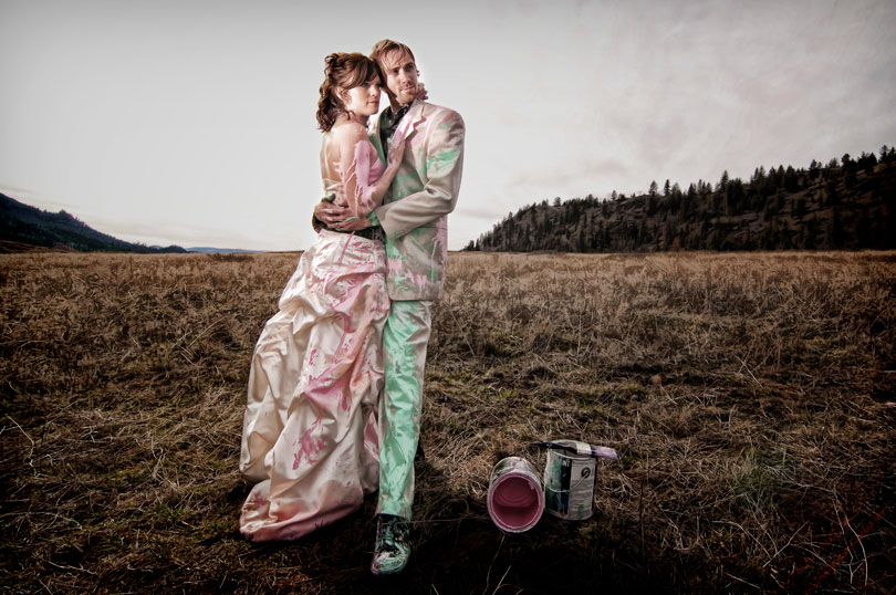 Bride Ca Kyle Perison Matt Amp Sara S Paint Fight