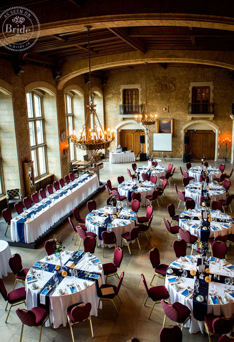 Gorgeous vaulted banquet room at Banff Springs hotel