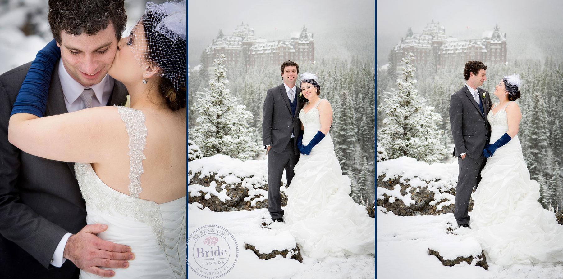 Bride Ca Shandell Amp Jordan Winter Destination Banff