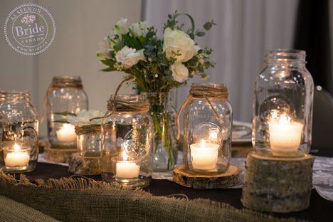 DIY Mason Jar table candles