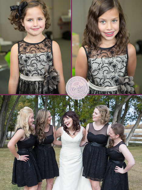 The gorgeous bride & her bridesmaids