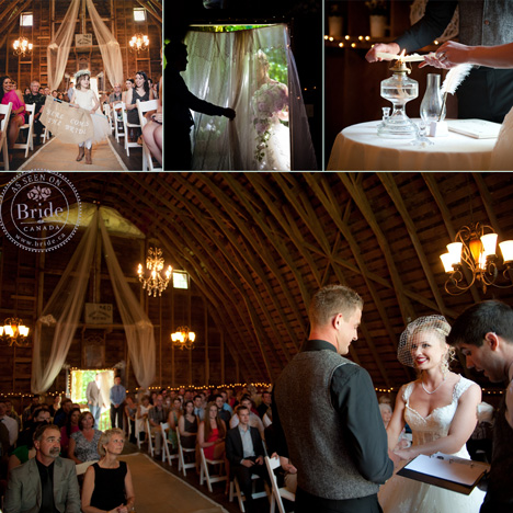Beautiful wedding ceremony in the barn