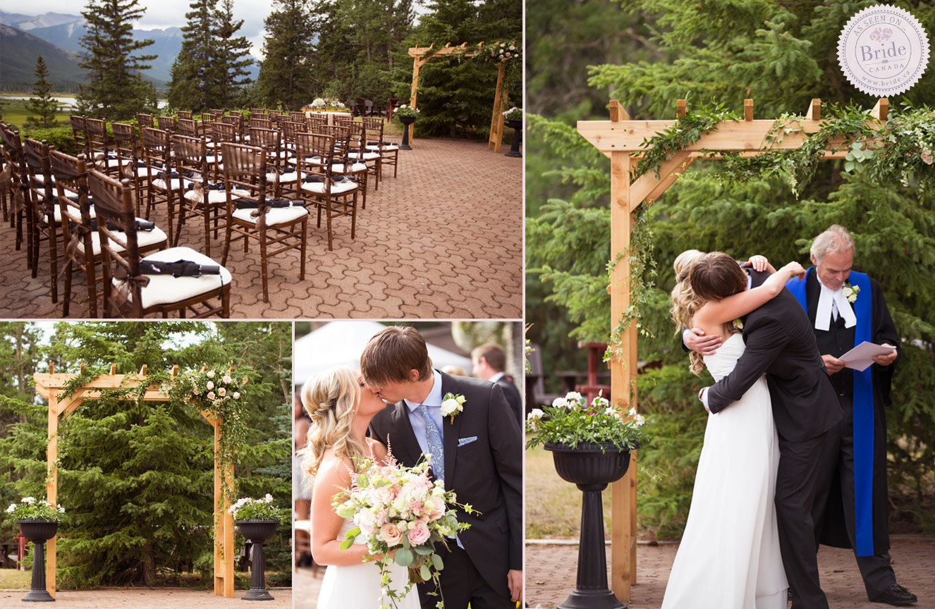 Cool Outdoor Wedding Venues Across Canada: Real Wedding: Chris & Abbi's Romantic Rockies