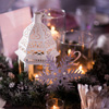 The winter theme translated seamlessly into the couple s reception at the