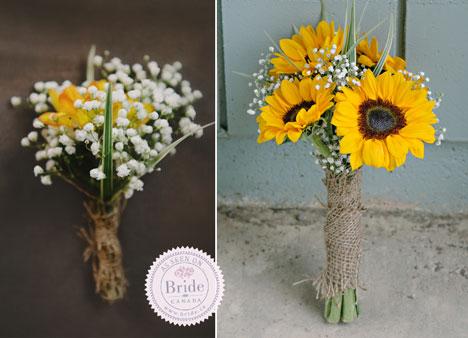 Yellow, summer, sunflower bridal bouquet