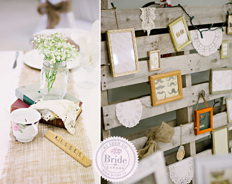 Rustic wedding decor details