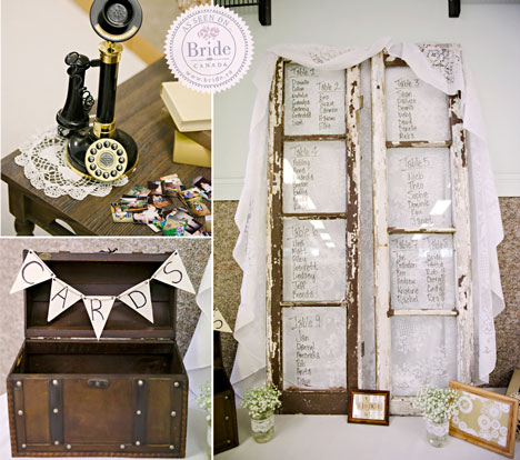 Rustic DIY wedding seating chart