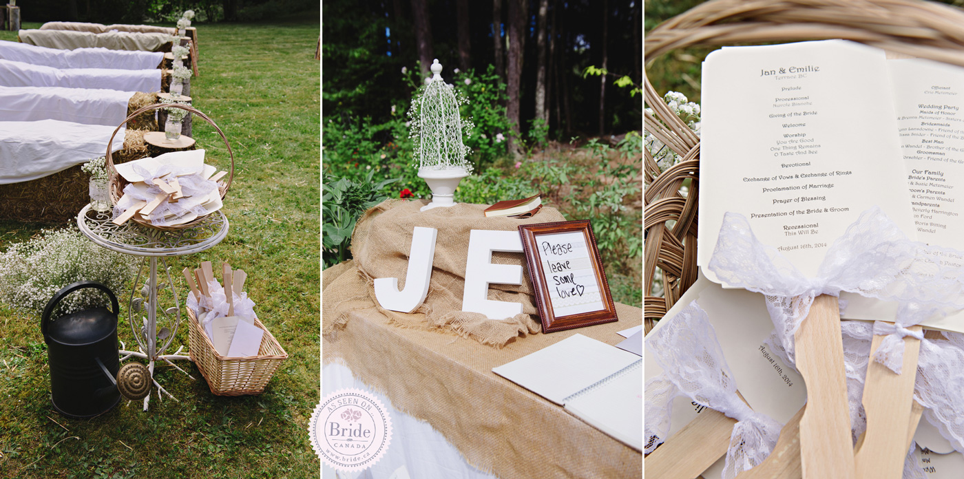 Bride real wedding emilie jan rustic backyard very diy rustic details the diy junglespirit Images