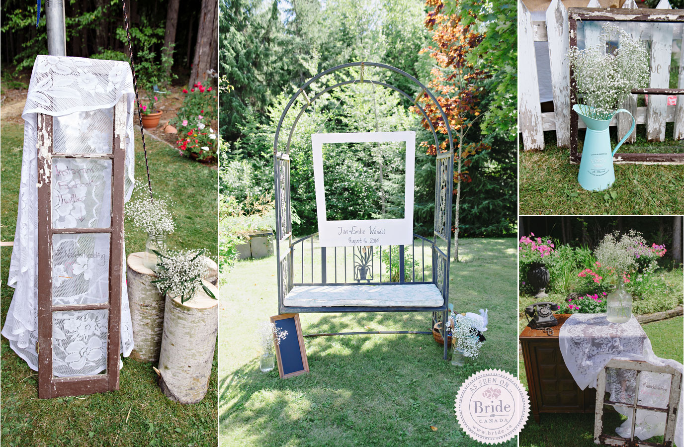 Bride real wedding emilie jan rustic backyard very diy rustic details the diy photo booth junglespirit Choice Image