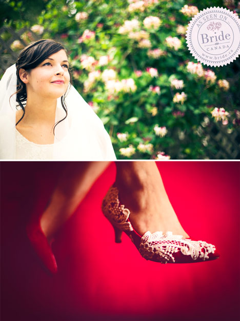 wedding collage wedding shoes red high heels with lace bride getting ready, bouquet and dress hanging from trees