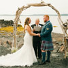 Adrian built the driftwood arch that he and Heather were married under. It doesn't get more romantic than that!