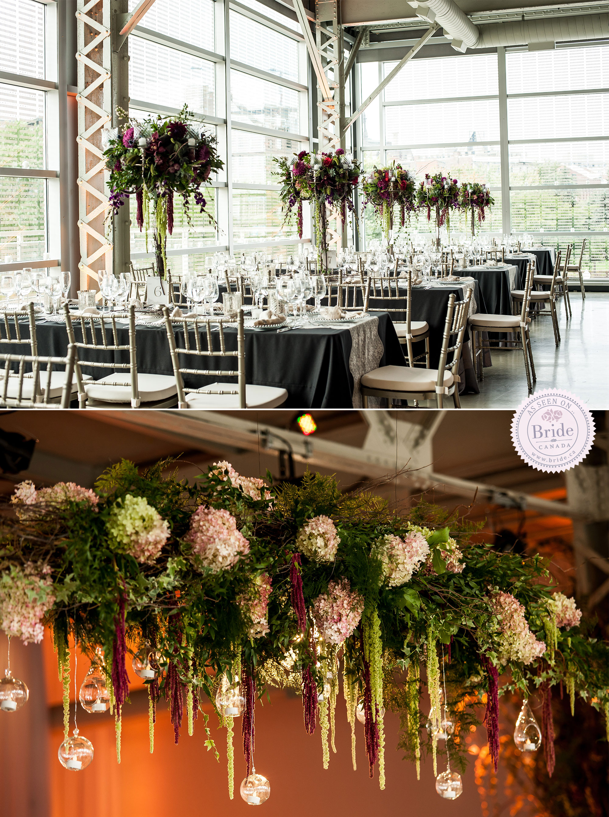 Bride wedding planning coordinating this floral design by fleurs des jardins is simply breathtaking as is the overall design junglespirit Gallery