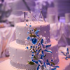 The three tier fondant wedding cake designed by Le Delice Fine Cakes
