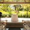 The bright and spacious Celebration Pavilion tied in perfectly with the couple's rustic theme.