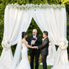 A view of the breathtaking ceremony canopy, created by Wedding Design Studio.