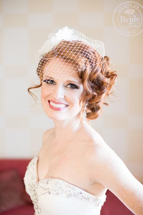 bride, birdcage veil