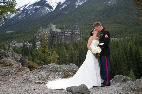 Bride Ca Real Weddings Lindsay Amp Daniel Destination Banff