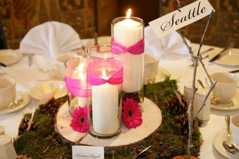 Rustic Wedding Decorations on Bride Ca   Real Weddings  Lindsay   Daniel  Destination Banff