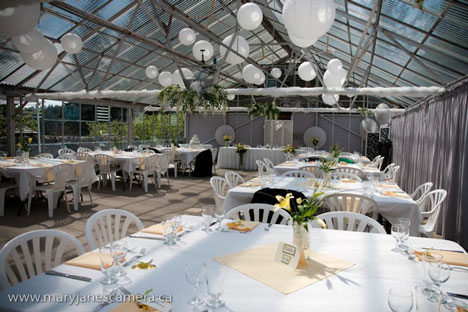 wedding reception in a green house photos Mary Jane Howland