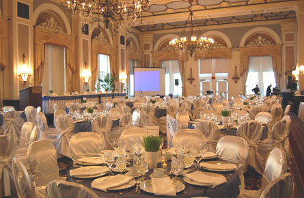 the wedding room at Fairmont Hotel MacDonald