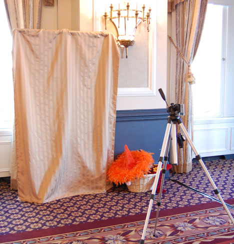 wedding reception photo video booth The photo video booth
