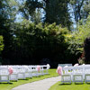 Northview's Enchanted Garden offers an outdoor ceremony location for 200 guests.